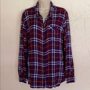 Lucky brand Women's flannel plaid shirt XL